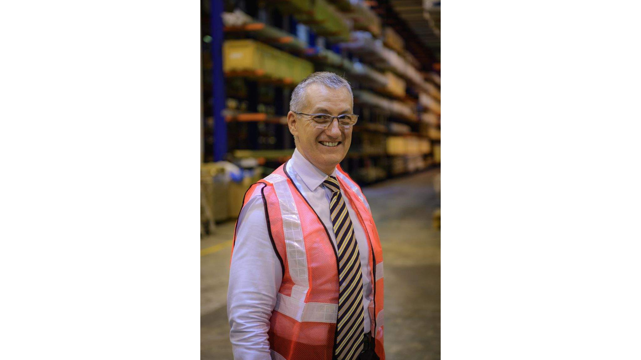 Frank Stadus, Managing Director Air & Sea Logistics Singapore, at DACHSER warehouse.